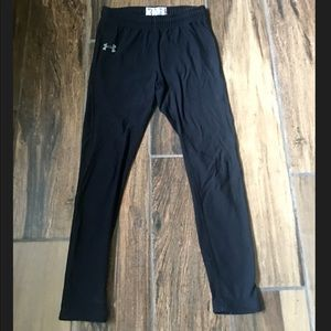 Girls Under Armour Thick Black Leggings size:S
